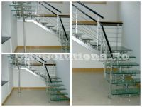 modern glass stair - sivctssminox-u