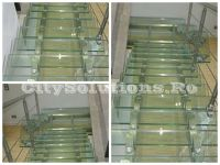 stainless steel glass stair - sivltssminox-l