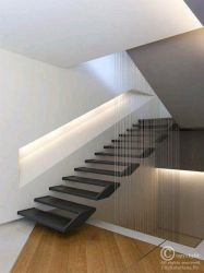 suspended steps with cable railing